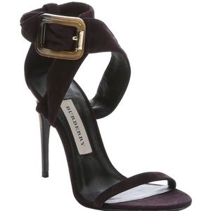 NWT Burberry Trench Buckle Marham Suede Sandal